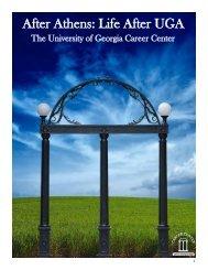 After Athens: Life After UGA - Career Center - University of Georgia