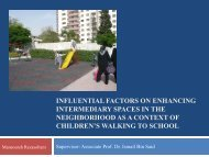 influential factors on enhancing intermediary spaces in the ...