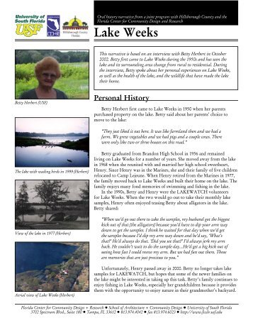 Lake Weeks - Hillsborough County & City of Tampa Water Atlas