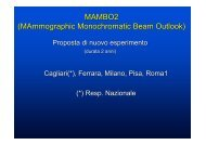 MAMBO2 (MAmmographic Monochromatic Beam Outlook) - Infn