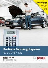 Perfekte Fahrzeugdiagnose ab 3,30* € / Tag - Bosch - Werkstattportal