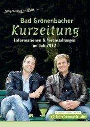 Informationen & Veranstaltungen im Juli 2012 - Kneippheilbad Bad ...