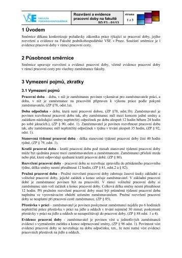 1/2013 Rozvržení a evidence pracovní doby