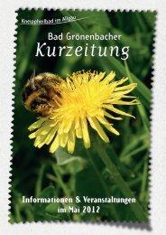 Informationen & Veranstaltungen im Mai 2012 - Kneippheilbad Bad ...