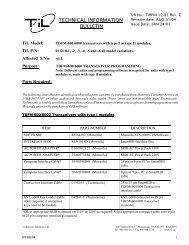 TECHNICAL INFORMATION BULLETIN - Dallas Avionics, Inc.