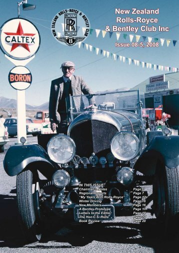 New Zealand Rolls-Royce & Bentley Club Inc Issue 08-5, 2008