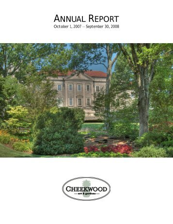 ANNUAL REPORT - Cheekwood Botanical Garden and Museum of Art