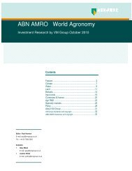 ABN AMRO/VM Group World Agronomy Report ... - Virtual Metals