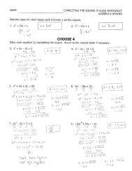 Function Notation Worksheet Hour