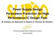 Power Supply Design Parameters Prediction for High ... - SLIP