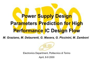 Power Supply Design Parameters Prediction for High ... - SLIP