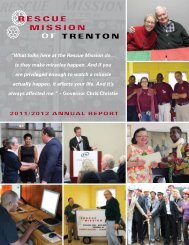 2011/2012 ANNUAL REPORT - Rescue Mission of Trenton