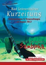 Informationen & Veranstaltungen im August 2012 - Kneippheilbad ...