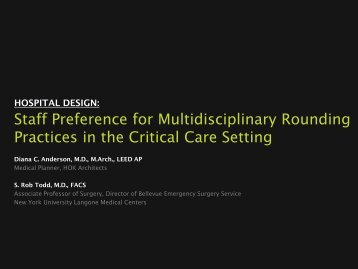 Staff Preference for Multidisciplinary Rounding Practices in the ...