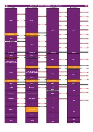 GRILLE DES PROGRAMMES M6 Music Hits ... - M6 Publicité