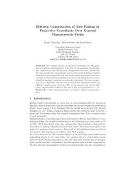 Efficient Computation of Tate Pairing in Projective Coordinate Over ...
