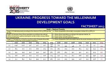 MDGs factsheet 2013 - UNDP in Ukraine
