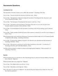 Sacraments Questions - CatholicMom.com