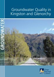 Groundwater quality in Kingston and Glenorchy - Otago Regional ...