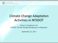 FHWA Workshop 10 NYSDOT Adaptation AS - New York State ...