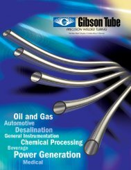 precision welded tubing - GFI Stainless