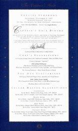 Captain's Gala Farewell Dinner
