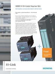 Flyer SIRIUS IO-Link starter kit - Siemens Industry Online Support