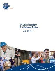 ECCnet Registry 10.3 Release Notes - GS1 Canada