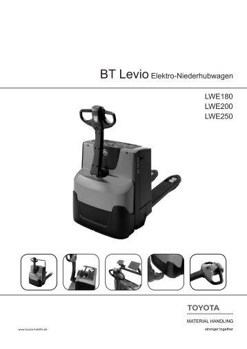 BT LevioElektro-Niederhubwagen LWE180 LWE200 LWE250