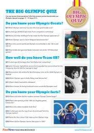 the big olympic quiz big olympic quiz - First News