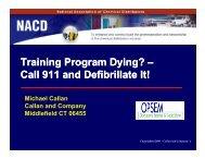 Training Program Dying? - NACD