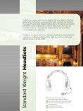 Ultra – Lightweight, Lightweight, Standard Weight HeadSets ... - AVC - Page 4