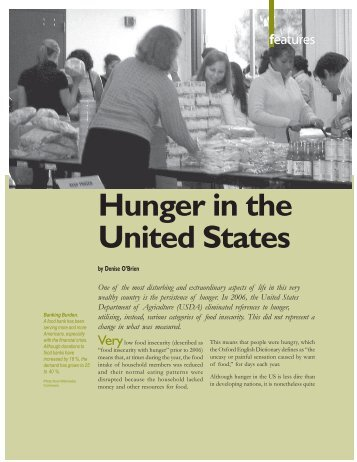 Hunger in the United States - Isis International Manila