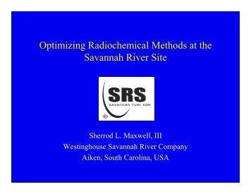 Optimizing Radiochemical Methods at the Savannah ... - Eichrom