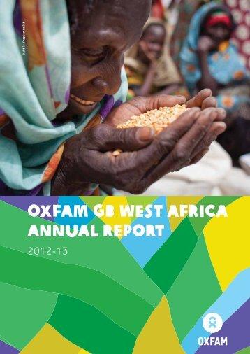 Oxfam GB West Africa Annual Report - Oxfam Blogs
