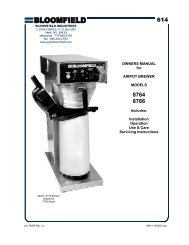 614 Airpot Brewer - Model 8764 - Mark Powers and Company