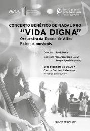 Programa do concerto da orquestra da EAEM en Vigo