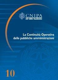 La Continuità Operativa delle pubbliche amministrazioni