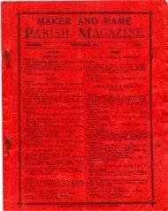 Parish Magazine 1915 (abridged) - pdf download ... - Rame Heritage