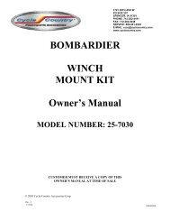 owners manual cc25-7030 - winch mounting kit ... - Schuurman B.V.