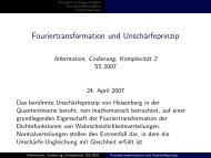 Fouriertransformation und Unschärfeprinzip