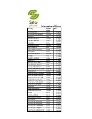 view our international calling rates - Silo Wireless