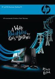 HP rp5700 Business Desktop PC
