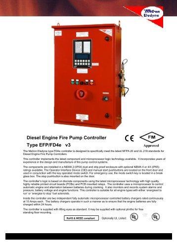 Diesel fire pump manual