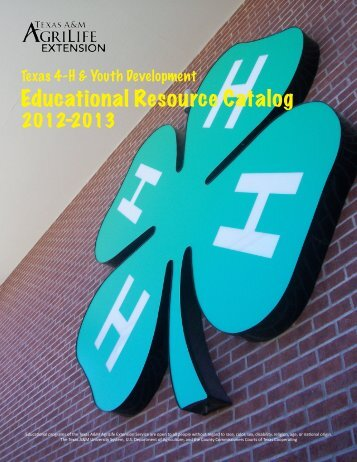 Educational Resource Catalog - Texas 4-H and Youth Development