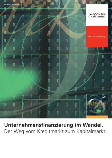 Unternehmensfinanzierung im Wandel - EK ...