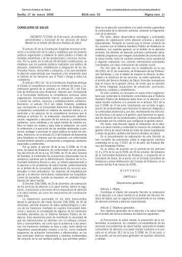 Decreto 77/2008, de 4 de marzo, de ordenación administrativa y ...