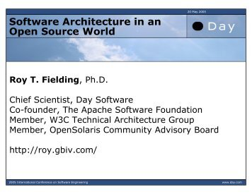 Software Architecture in an Open Source World - International ...
