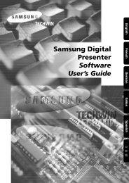 Samsung Digital Presenter Software User's Guide - Electronic ...