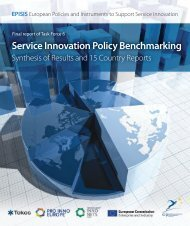 Service Innovation Policy Benchmarking – Synthesis of ... - Vinnova